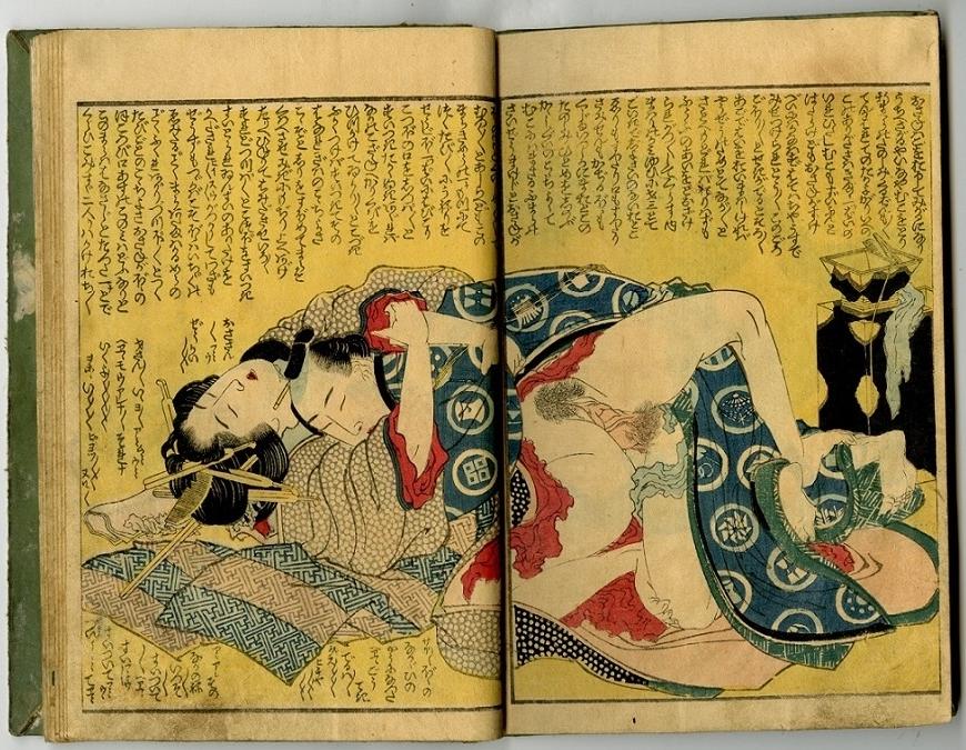 shunga art Hokusai