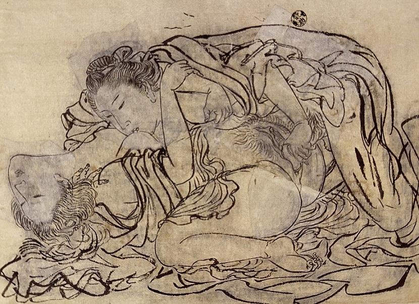 shunga sketch Kyosai