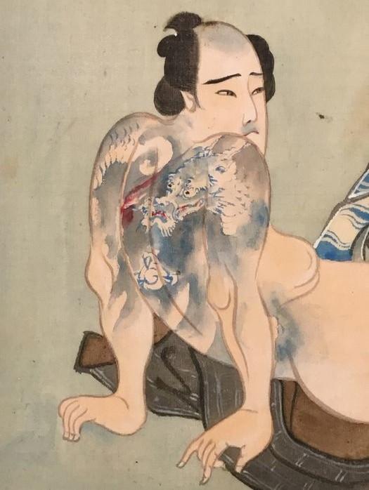 shunga tattoo detail