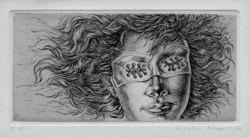 Sibylle Ruppert blindfolded female
