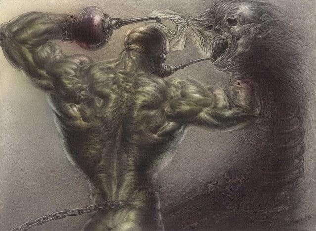 Sibylle Ruppert muscled man