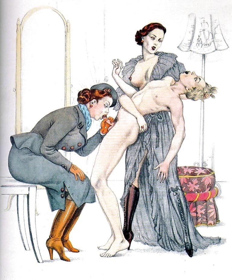 spanking art fellatio