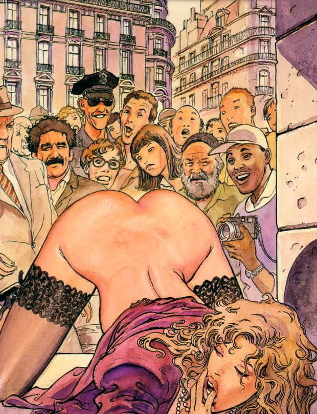 striptease art milo manara