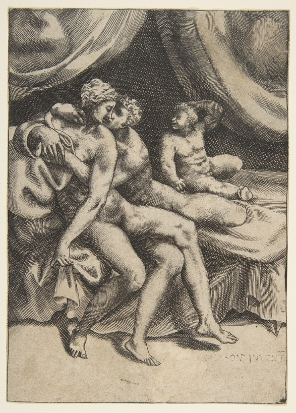 Suffering Semela, the mother of Dionysus after asking Jupiter