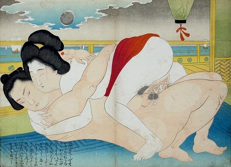 sumo wrestler erotic print