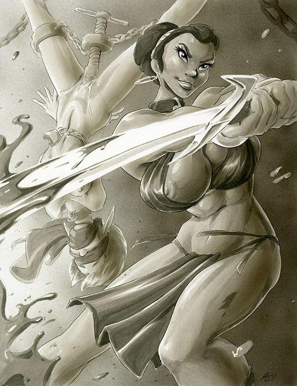 Swordswoman Andy's Dames