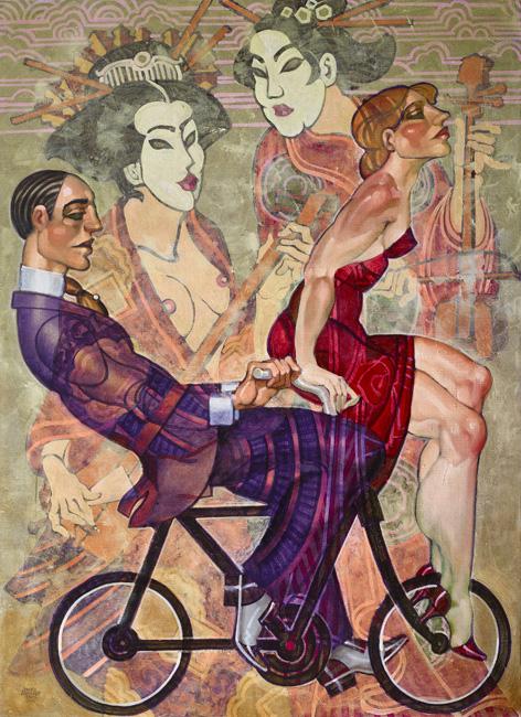 tango dancers painting Juarez