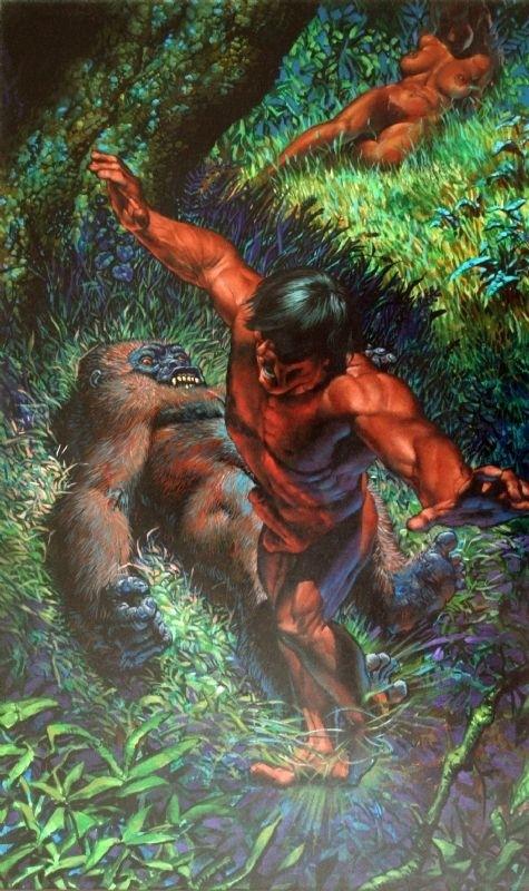 Tarzan and dead gorilla