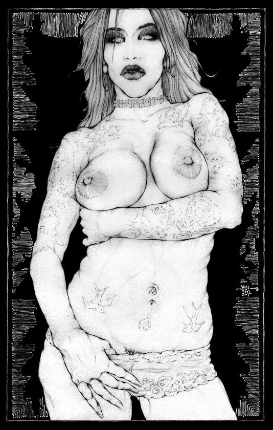 tattooed chick erotic