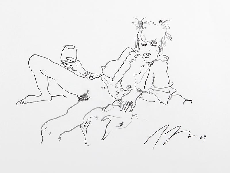 Terry Rodgers erotic drawing