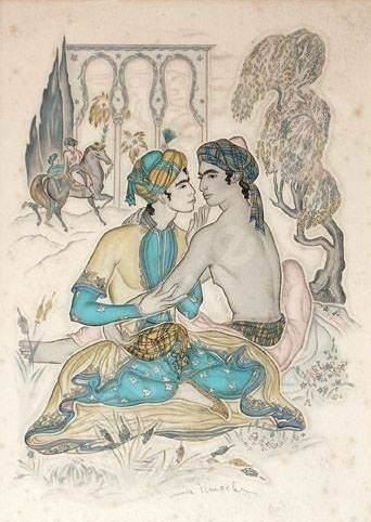 the couple Genia Minache