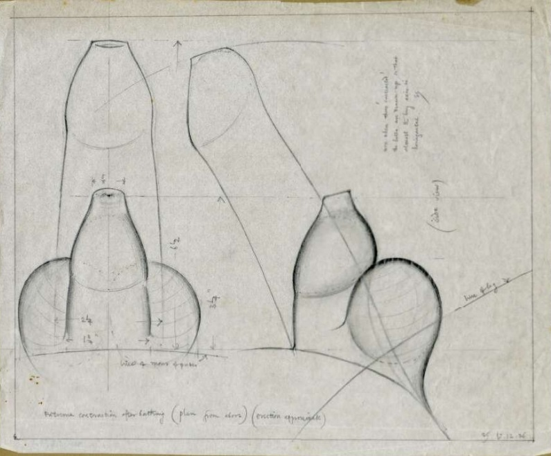 The draft of flaccid and erected penis by Eric Gill