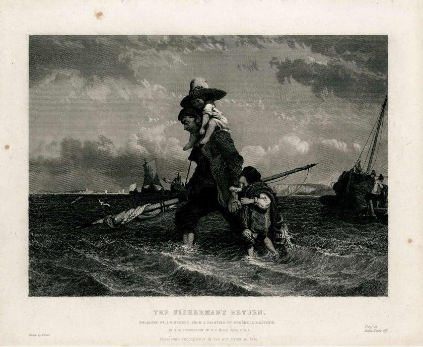 the fisherman's return Eugène Lepoittevin