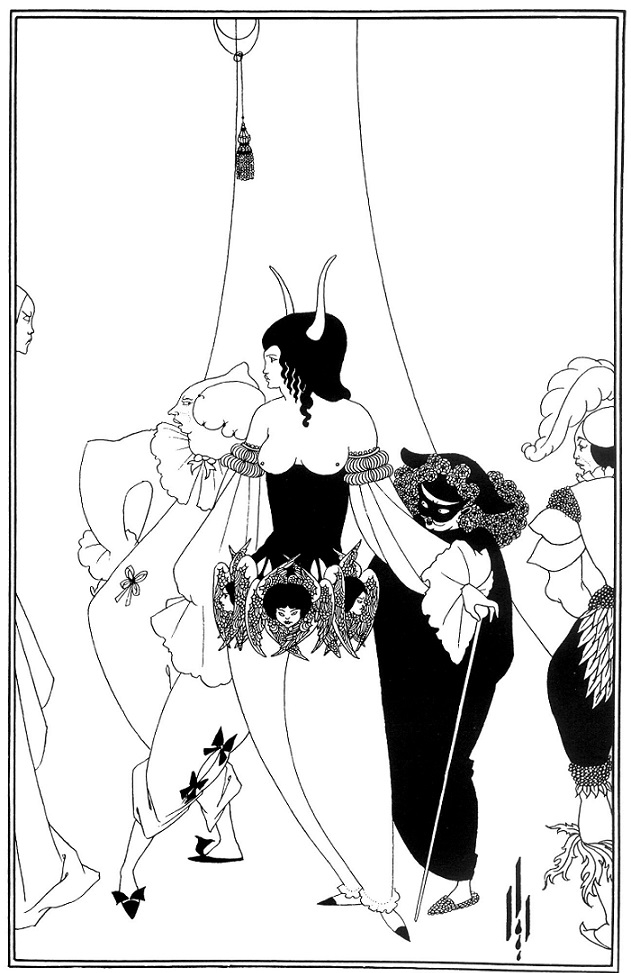 """The Masque of the Red Death"""" by Poe aubrey beardsley"""
