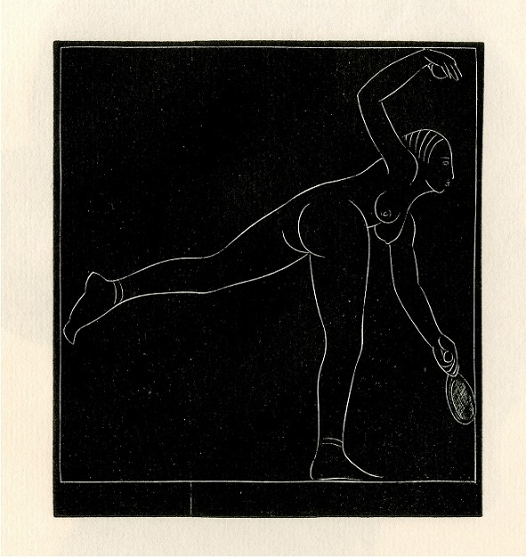 The Tennis Player by Eric Gill