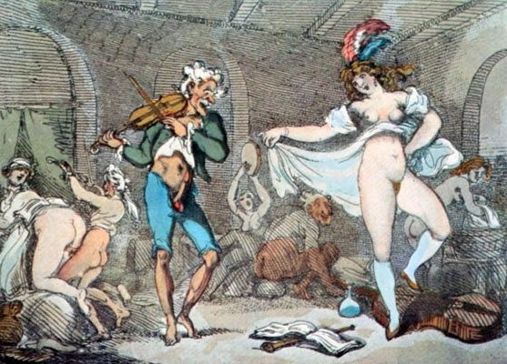 Thomas rowlandson: French dance group