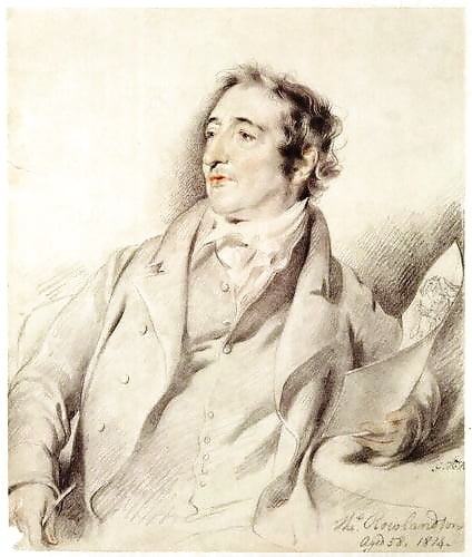 Thomas Rowlandson, pencil sketch by George Henry Harlow