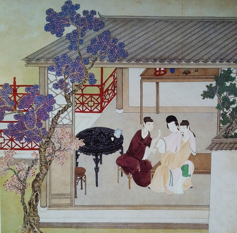 threesome Chinese erotic painting