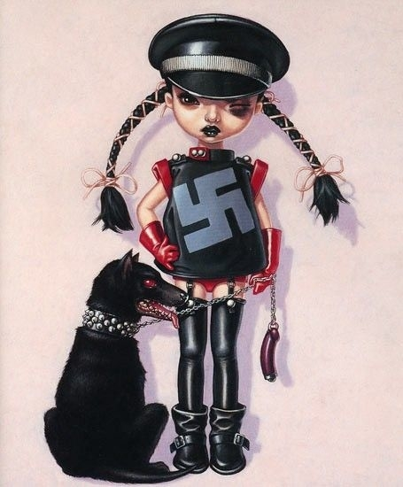 Trevor Brown girl with a dog swastika