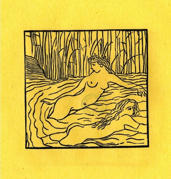 Two Nymph In a River by Aristide Maillol