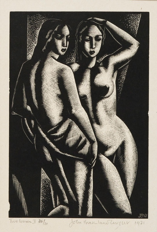 two standing women john buckland