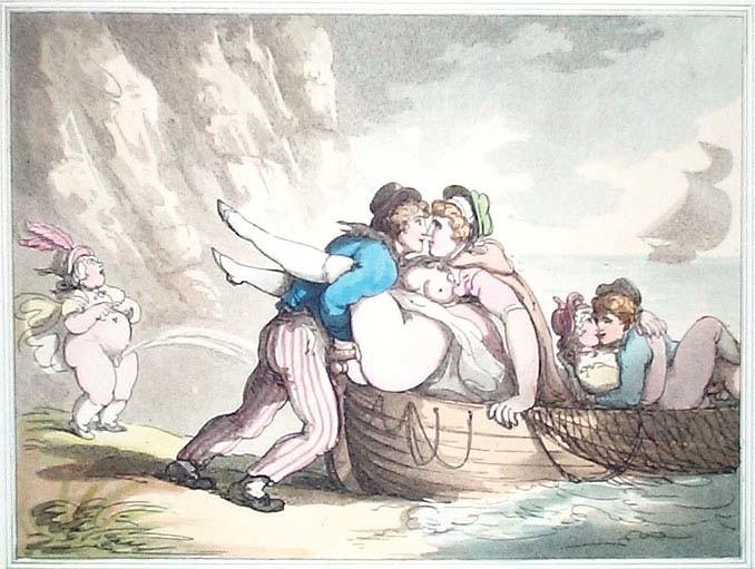 urinating woman and copulating sailors