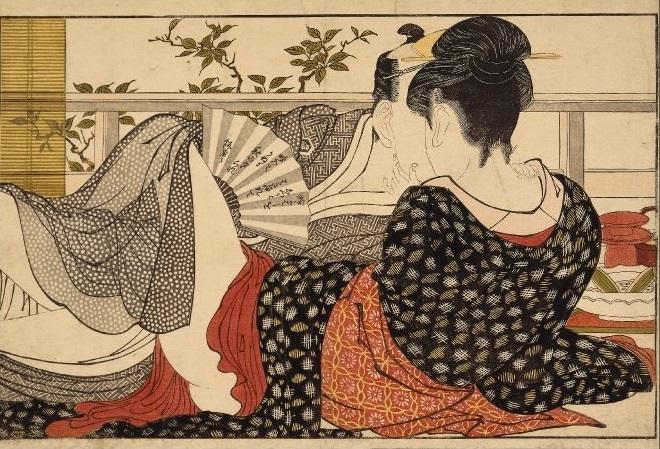 Utamaro Utamakura plate 10