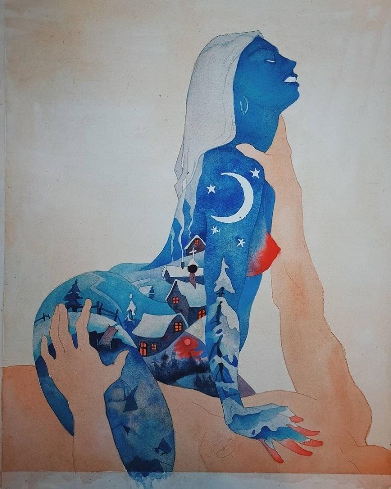 valeria ko tattooed nude female
