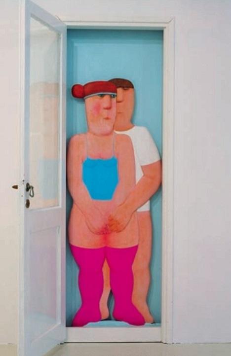 Vasko Lipovac intimate couple in doorway
