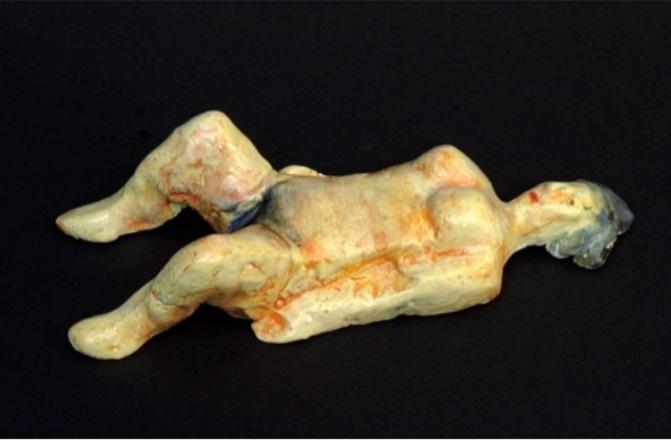 Vasko Lipovac lying nude