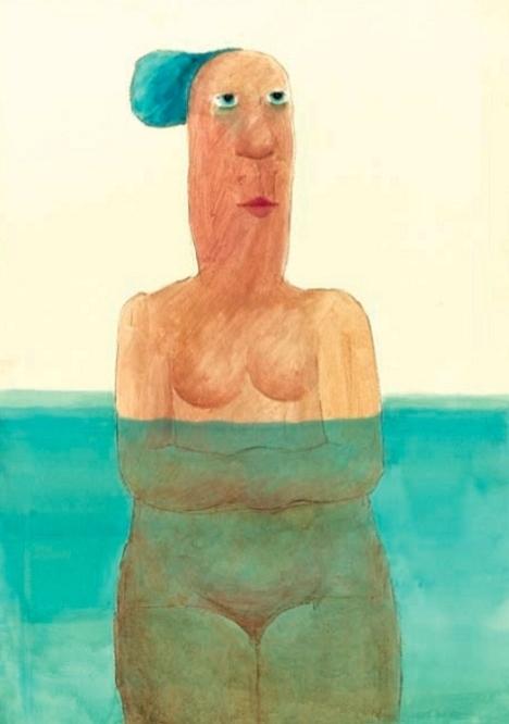 Vasko Lipovac nude female in the water
