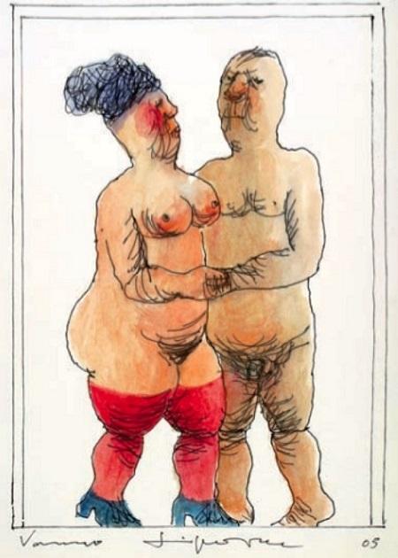Vasko Lipovac old nude couple
