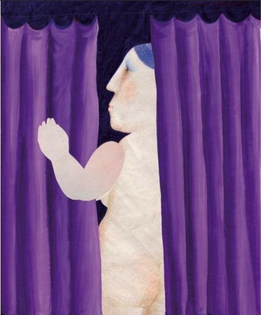 Vasko Lipovac purple curtain