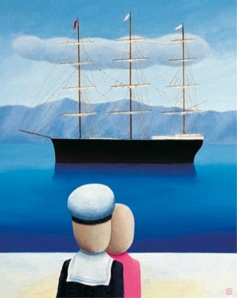 Vasko Lipovac watching boat