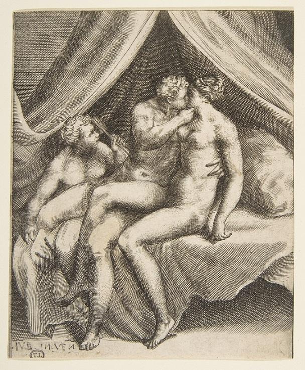 Venus and Mars embracing