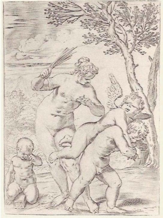 Venus punishing profane love