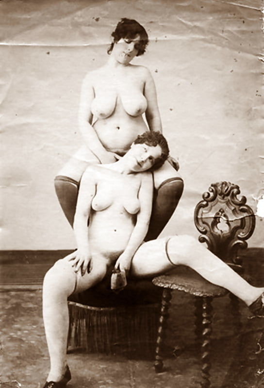 vintage erotic photograph playful nude females