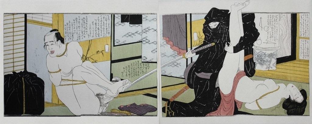 violent erotica Hokusai