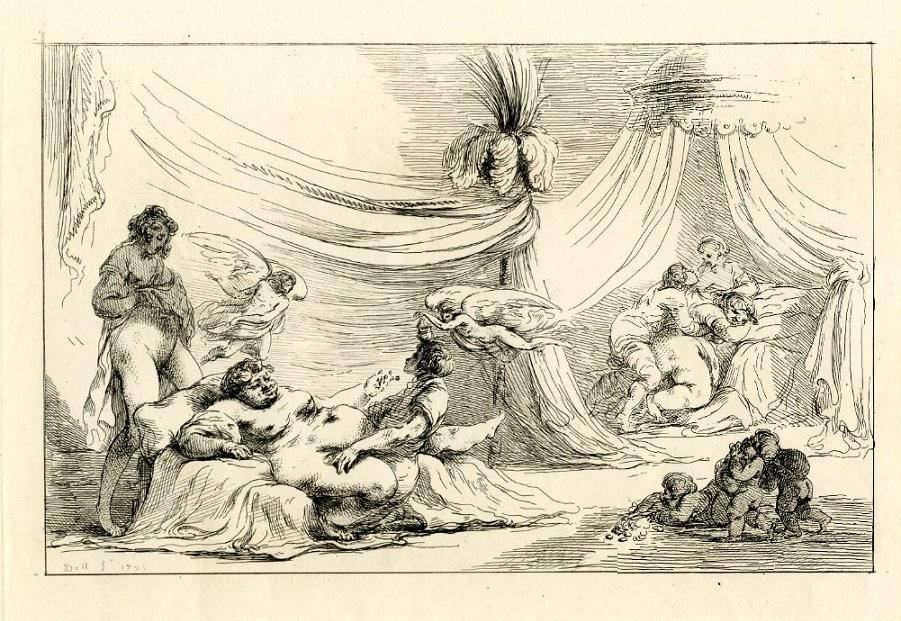 vivant denon Orgiastic scene in Roman style