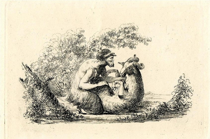 vivant denon Satyr mating with a goat