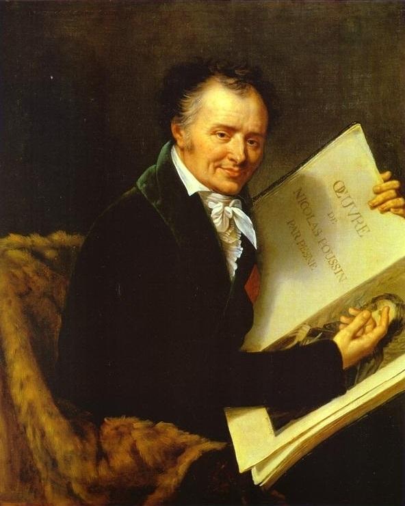 Vivant Denon with a book of Nicolas Poussin