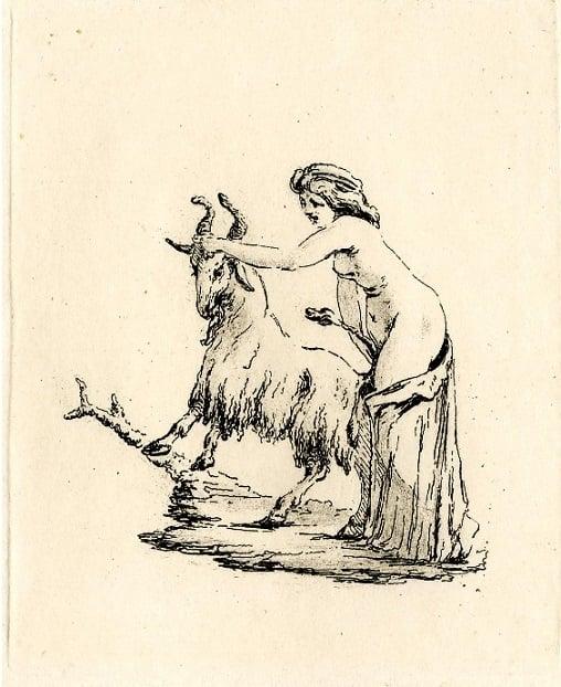 vivant denon Woman with a goat