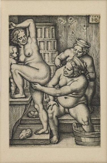 women in the bathhouse Sebald Beham