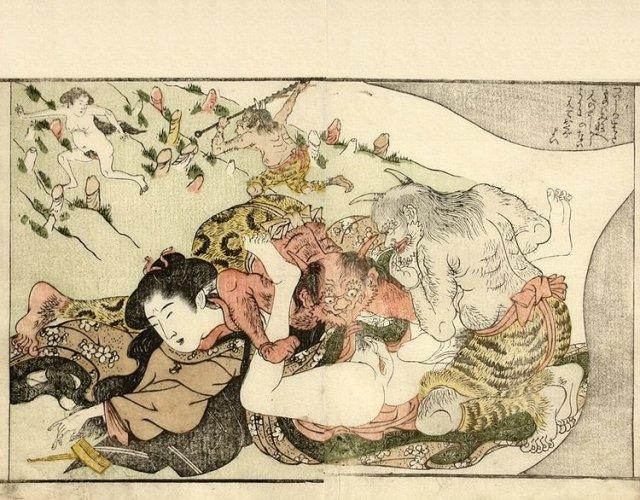 Maiden Dreaming of Attack by Devils by Katsukawa Shuncho