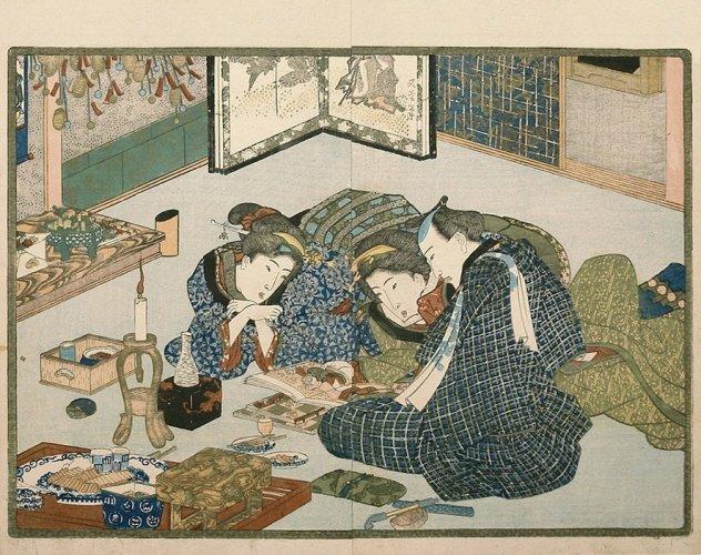 Sexual education by Utagawa Kunisada