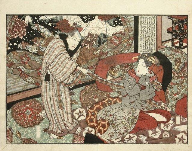Sensual liaison by Utagawa Kunisada