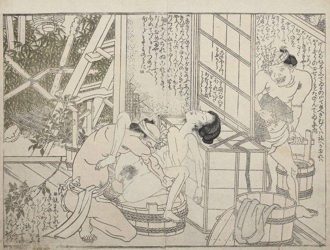 Gravedigger and corpse by Utagawa Toyokuni