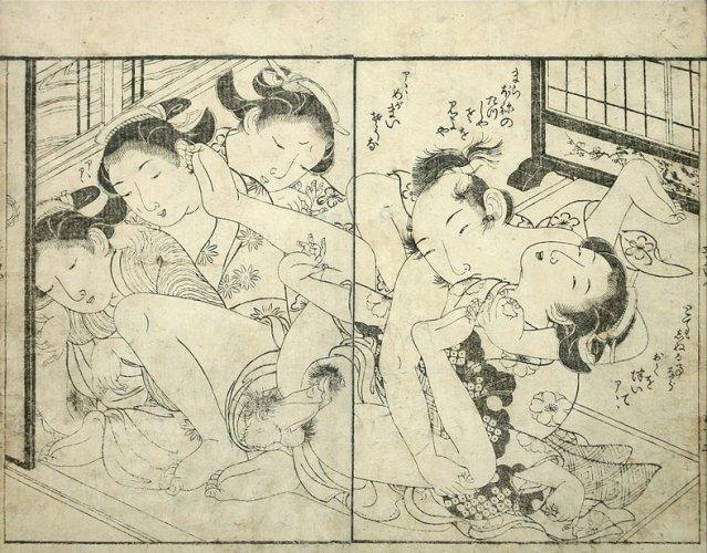 Orgy scene by Tsukioka Settei