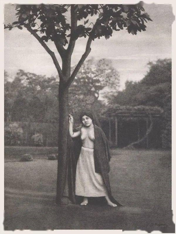 Yasuzō Nojima model near tree