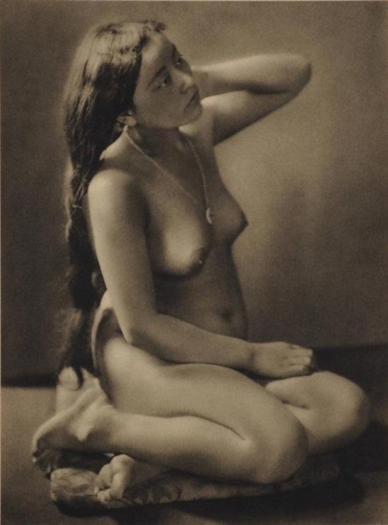 Yasuzō Nojima Nude Girl with long hair